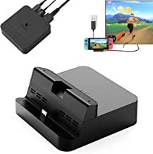 GuliKit Switch Dock Set for Nintendo Switch, Small and Portable TV Docking Station Travel Version, Own 3 Ports USB-A & HDMI & USB-C