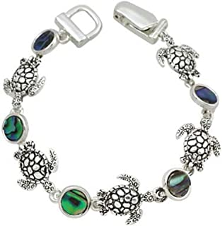 4e60841a773 Sea Turtle Abalone Shell Tropical Link Bracelet Magnetic Closure by Joon's  Collection