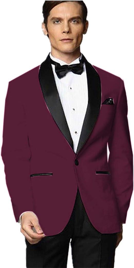 mys Hombre Justo lo trauzeuge Smoking Borgoña Traje Negro Pantalones Bow Corbata Set