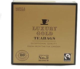 英国マークス&スペンサー ラグジュアリー ゴールド紅茶 80ティーバッグ MARKS & SPENCER LUXURY GOLD TEA 80 TEABAGS 250G 【海外直送品】【並行輸入品】