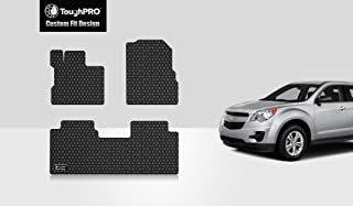 ToughPRO Floor Mats Set (Front Row + 2nd Row) Compatible with Chevrolet Equinox - All Weather - Heavy Duty - (Made in USA) - Black Rubber - 2010, 2011, 2012, 2013, 2014, 2015, 2016, 2017