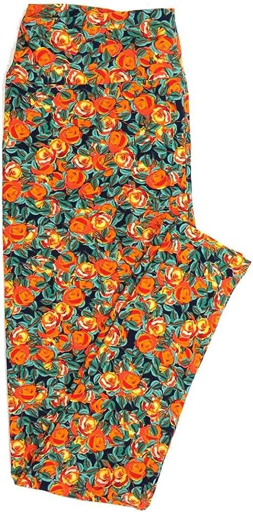 Lularoe Tall Curvy TC Roses Buttery Soft Womens Leggings fits Adults Sizes 12-18 TC-7355-Q