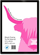 Wee Blue Coo A3 Black Wooden Picture Frame 11.7 x 16 Inch Acrylic Safety 'Glass' Photo Frame