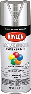 Krylon K05590007 COLORmaxx Spray Paint, Aerosol, Silver