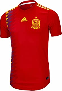 Adidas Men's Spain Authentic Home Jersey 2018 Red/BoGold