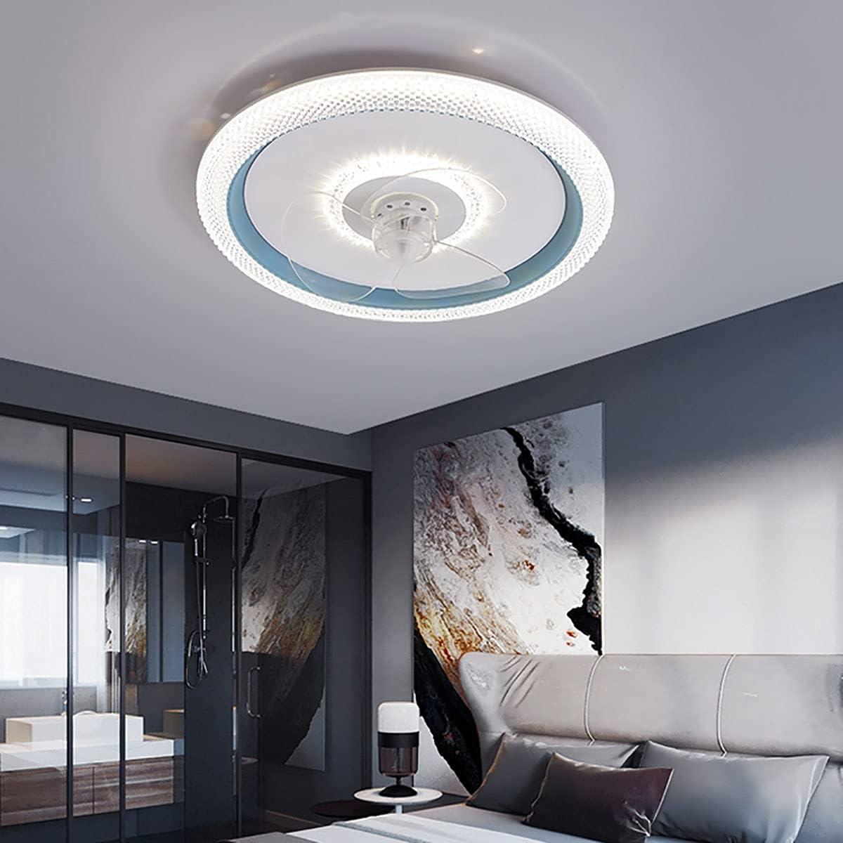 36W Ventilador de Techo con Lámpara Silencioso, Ventilador de Techo con Iluminacion y Mando a Distancia Dimable 3 Velocidad del Viento Fan Luces para Dormitorio Salón Comedor, Temporizador