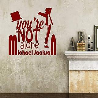 pegatinas de pared navidad No estás solo - Michael Jackson para la habitación del dormitorio de la sala de estar Habitación para niños Etiqueta de la pared para niños
