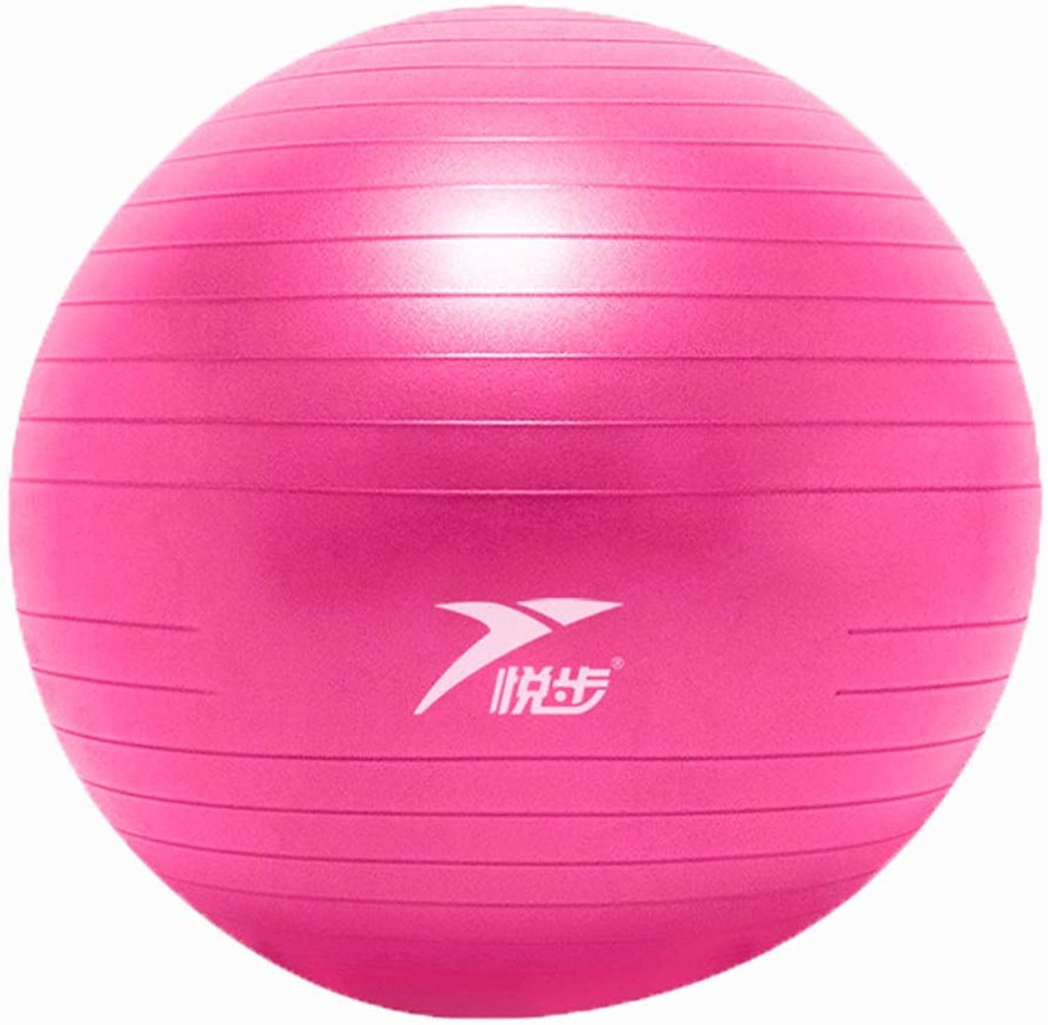 Yoga Ball Gym Ball Thicken Advanced Explosion Proof Lose Weight Balance Yoga Ball Safe and Tasteless (color   Pink, Size   75CM)