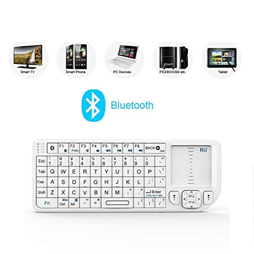 a1d9752ac95 Rii K02+ 4 In 1 Mini Wireless Bluetooth Multi-media Keyboard with Touchpad  Mouse ,