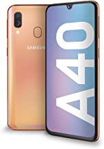 "Samsung Galaxy A40 Display 5.9"", 64 GB Espandibili, RAM 4 GB, Batteria 3100 mAh, 4G, Dual SIM Smartphone, Android 9 Pie, (2019) [Versione Italiana], Coral"