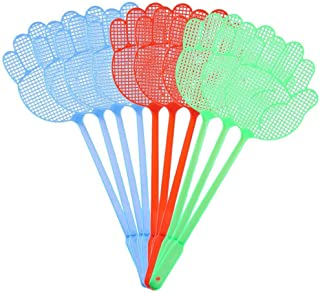 3Pcs Cute Palm Pattern Plastic Fly Swatter Lightweight Home Baffle Mosquito Pest Control Random Colors