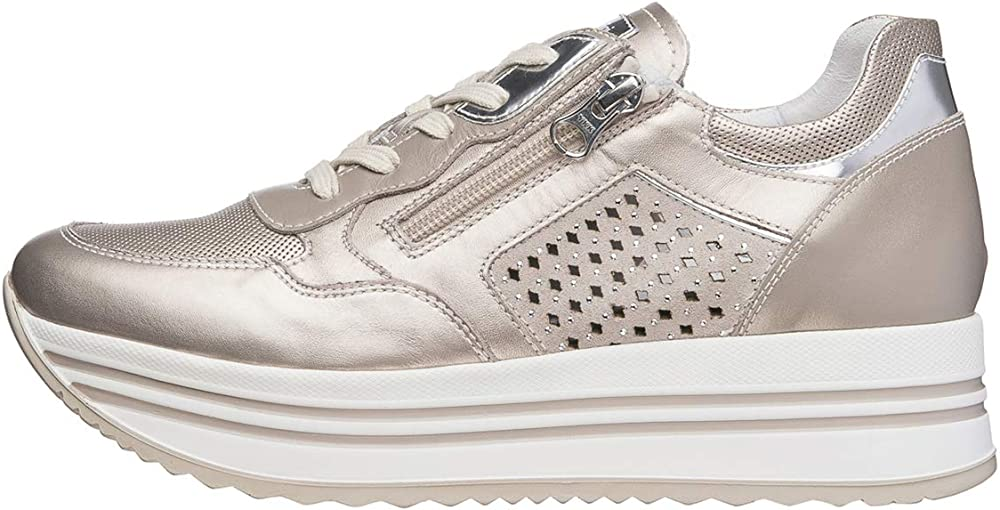 Nero giardini sneaker donna pelle/camoscio/tela