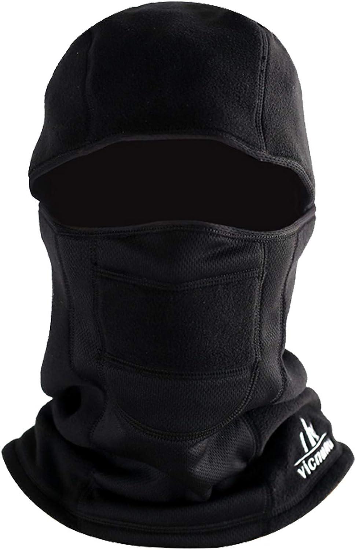 vicnunu Balaclava Ski Mask Winter Windproof Warm Face Mask for Men Thermal Fleece