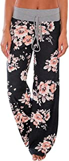 AMiERY Women's Comfy Casual Pajama Pants Floral Print...