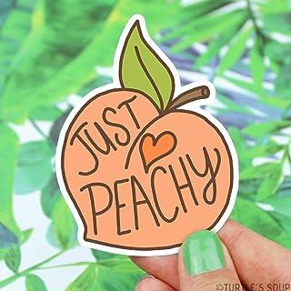 Just Peachy Peach Vinyl Sticker