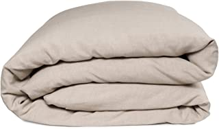 European Made Pure Linen Duvet Cover. 100% Fine Organic and Natural Flax (Full, Natural)