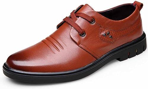 GLSHI Hommes Confort Oxford 2018 New Décontracté Chaussures Fashion Lace Up Chaussures De Mariage