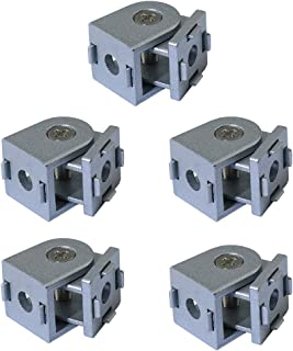 Boeray 5pcs Die-Cast Zinc Alloy Pivot Joint for Aluminum Extrusion Profile 2020 Series, Flexible Pivot Joint for 2020 Aluminum Profile
