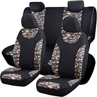 SHAKAR Camo Pattern Seat Covers-Camouflage Oxford Cloth Seat Covers Full Set (camo)