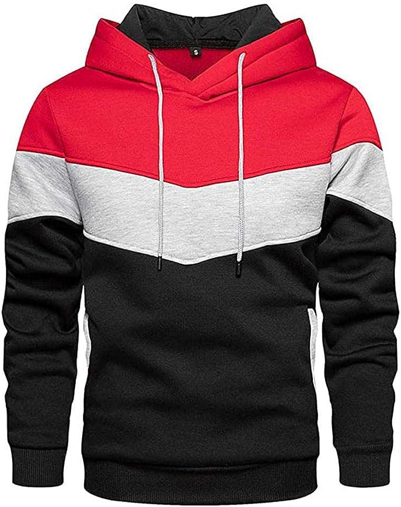 Cookinty Men's Hoodies Plain Zipper Athletic Sweatshirt Long Sleeve Gym Hooded Drawstring Workout Sweatshirts