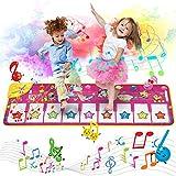 AOLUXLM Spielzeug Piano Matte Tanzmatte Klaviertastatur Klaviermatte Musikmatten Touch Musical Teppich für Babys Kleinkind Jungen und Mädchen Geschenk 100*36 cm