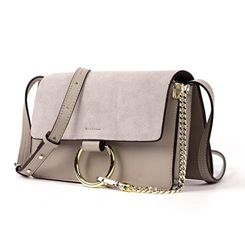 9582ae42a25 Actlure Women Genuine Leather Crossbody Shoulder Purse Chain Link FY Bag