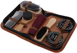 Baoblaze 7pcs Portable Shoe Cleaning Kit Shoe Care Set - Busts Set - Leather Care Shoe - Complete Cleaner Kit