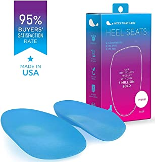 Heel That Pain Plantar Fasciitis Insoles | Heel Seats Foot Orthotic Inserts, Heel Cups for Heel Pain and Heel Spurs | Patented, Clinically Proven, 100% Guaranteed | Hybrid, Medium (W 6.5-10, M 5-8)