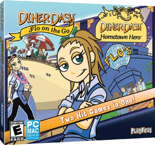 Diner Dash Flo on the Go & Diner Dash Hometown Hero (Jewel Case)
