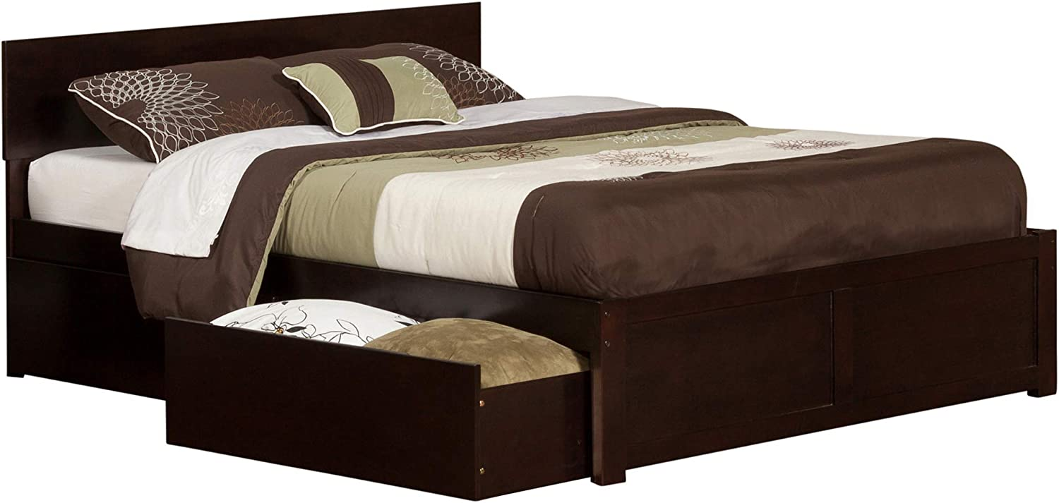 Atlantic safety Outlet ☆ Free Shipping Furniture Orlando Platform Bed Drawers 2 with Urban