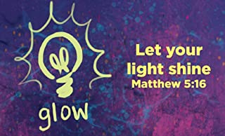Children and Youth, Pass Along Scripture Cards, Glow, Matthew 5:16 Pack of 25