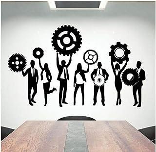 Qinyubing Bureau Sticker Murale Travail D'Équipe Travail Dur Vinyle Autocollant Mural Bureau Creative Decor Motivational I...