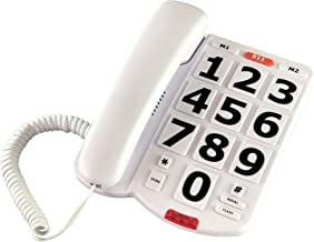 $35 » TelPal Corded Big Button Phone for Seniors Home, Wired Simple Basic Landline Telephone for Visually Impaired Old People wi...