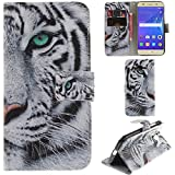 Ooboom® Huawei Y3 2017 Case PU Leather Flip Cover Wallet