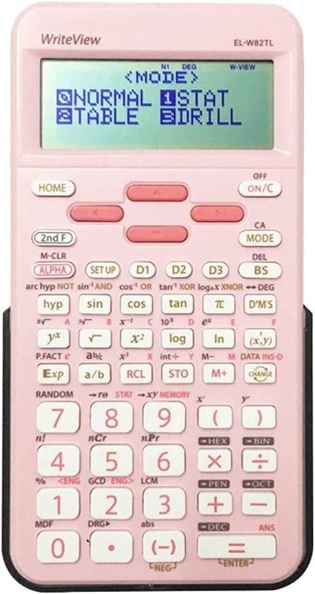 PWV Multifunction Study Scientific Calculators Large Display and Buttons Standard Function Desktop Handheld Calculator Basic Office for Office, Home, School (Color : Pink)