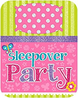Amscan 494163 Slumber Large Novelty Invites, Multicolor Party Supplies, 6