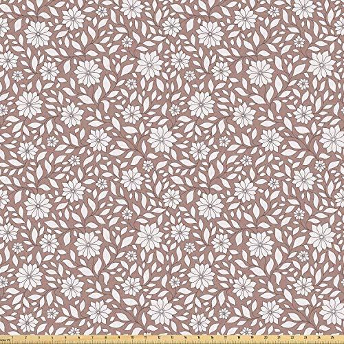 daoyiqi Juego de pegatinas decorativas para azulejos, diseño floral con flores y tallos de hojas de primavera, color marrón topo cálido y 50 x 50 cm, 12 unidades de adhesivo para azulejos de pared