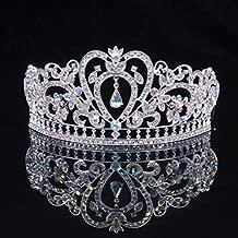 Sunshinesmile Colorful Clear Austrian Rhinestone Crystal Tiara Crown, 6