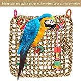 HEEPDD Jouet à Oiseau perchoir Perroquet Tapis Tissé Jouets Hamac Perroquet Perroquet Bite À Croquer Jouets Swing Échelle Cage Accessoires