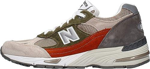 New Balance - Sneaker da Uomo Grigio in Pelle M991SMG : Amazon.it ...