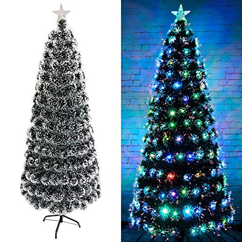 Maiaroj Albero di Natale in Fibra Ottica Artificiale (con Gonna Ad Albero),Deercart,210Cm
