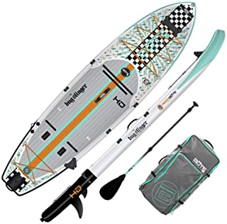 BOTE HD Aero Inflatable Stand Up Paddle Board, SUP with Accessories   Pump, Paddle, Fin & Travel Bag