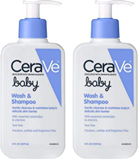 Baby Wash & Shampoo | 8 Ounce | Fragrance, Paraben, Sulfate Free Shampoo for Tear-Free Baby Bath Time (2 Pack)
