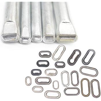 0.16 0.28 ropa 7mm 25/mm 100/conjuntos de ojales ovalados de metal de 7/mm 37/mm para lonas 30/mm hebillas de bolsos 13/mm x4mm