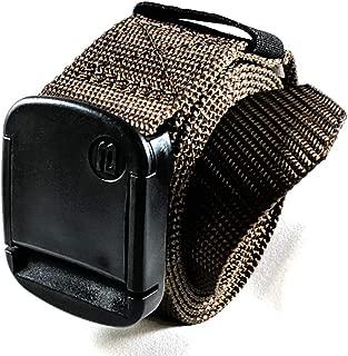 1.25 Inch Nylon Web Belt with Adjustable Buckle, Unisex
