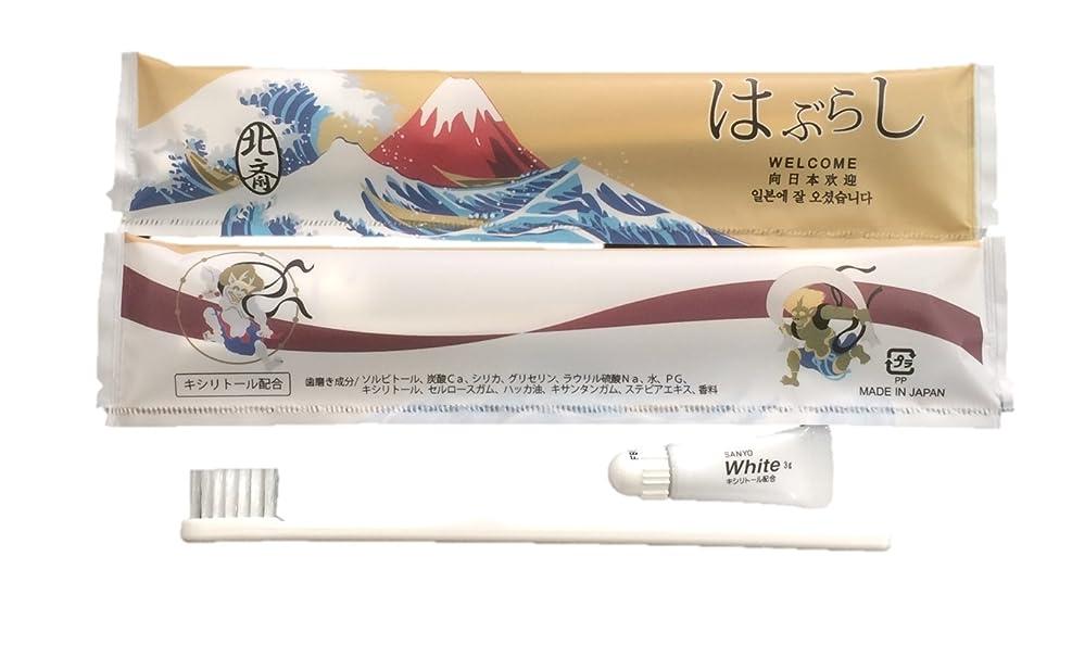 下着香水修理工使い捨てハブラシ JS-5M 250本入り 日本製 JAPANSERIES アメニティ 日本シリーズ 葛飾北斎 250本セット