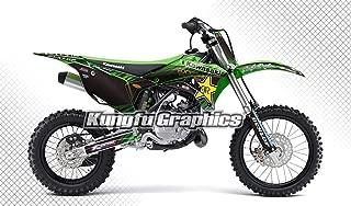 Kungfu Graphics Custom Decal Kit for Kawasaki KX 85 KX 100 2014 2015 2016 2017 2018 2019, Green Black