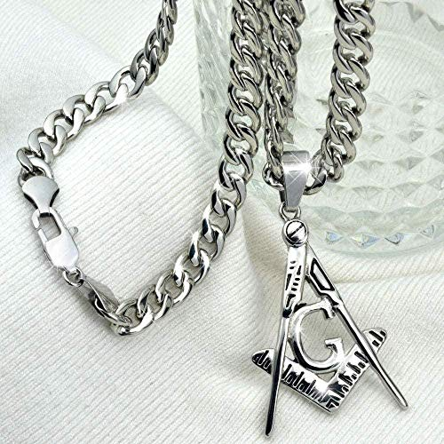 niuziyanfa Co.,ltd Necklace Silver Color Stainless Steel Pendant Free Chain Necklace Length 70Cm Pendant Necklace Gift for Women Men Girls Boys