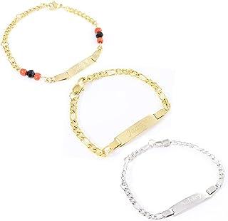 c5af4867a Tina&Co Personalized 14K Gold Plated Baby Name Bracelet Custom Bracelets  for Kids Id Protection Bracelet Baptism