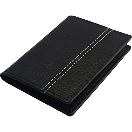 Men Card Holder – RFID Card Wallet – Slim Men Wallet – Minimalist Credit Card Holder – RFID Protection Technology – Holds up to 6 Cards and Banknotes – Elegant Classic Style
